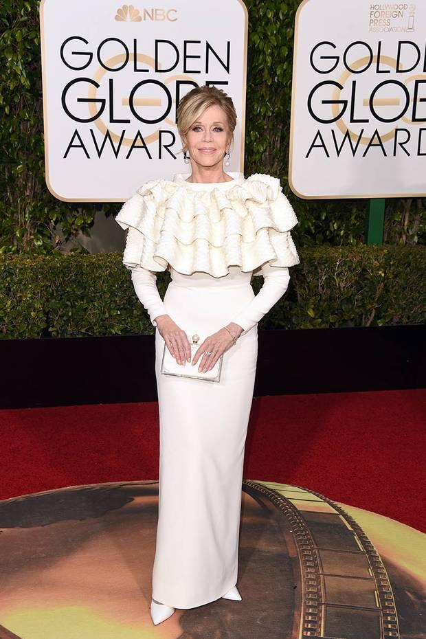 ganadoras estilo Globos de Oro Jane Fonda