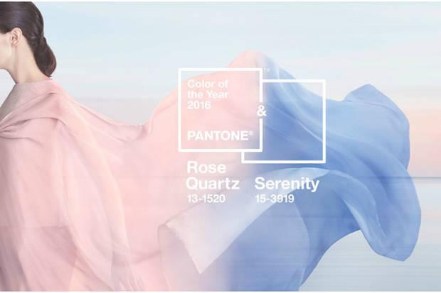 azul serenidad y rosa cuarzo pantone