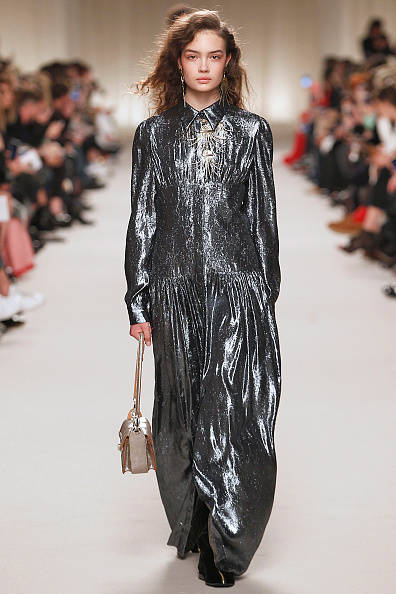 PARIS, FRANCE - MARCH 03: A model walks the runway during the Lanvin fashion show as part of the Paris Fashion Week Womenswear Fall/Winter 2016/2017 on March 3, 2016 in Paris, France. (Photo by Victor VIRGILE/Gamma-Rapho via Getty Images)
