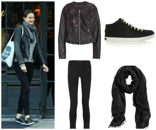 copia el look vanidad Shailene Woodley