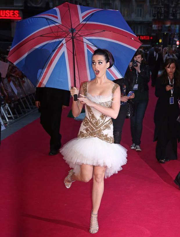 paraguas famosos Katy perry
