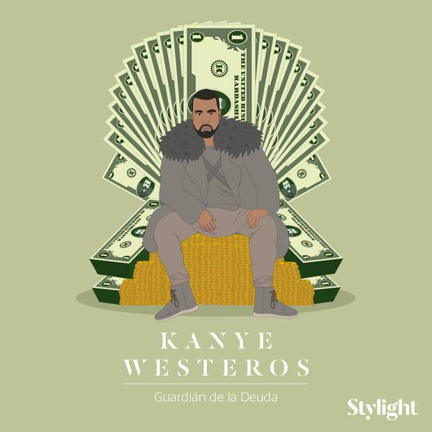 Y si las celebrities fueran personajes de Juego de Tronos Kanye West