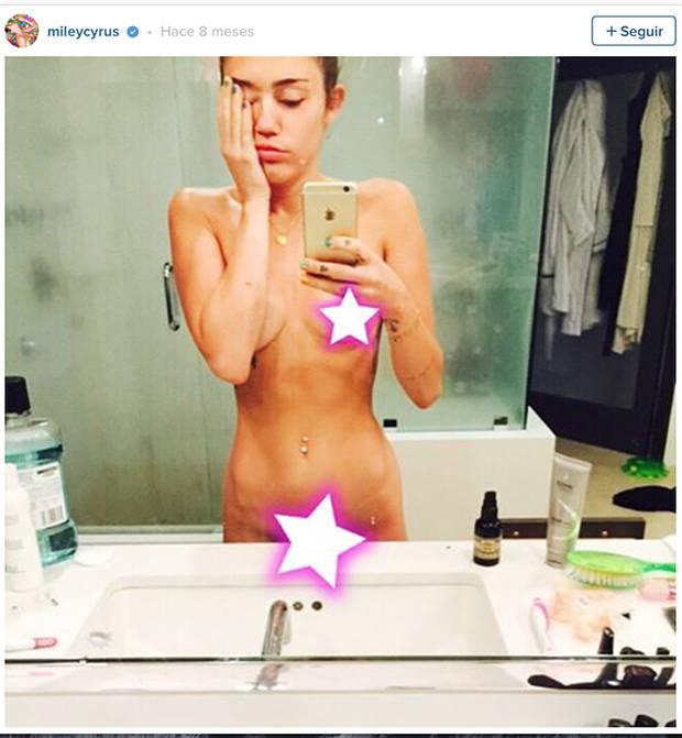 Los famosos mas hot y sus desnudos en instagram Miley Cyrus