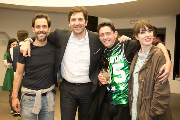 Óscar Esteban, Fran Ares, Fran Marto, estilista de Vanidad, y Natalia Ferviú