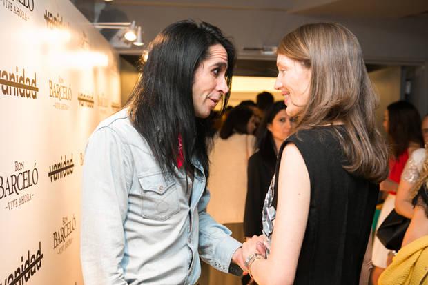 Mario Vaquerizo hablando con Olga Liggeri