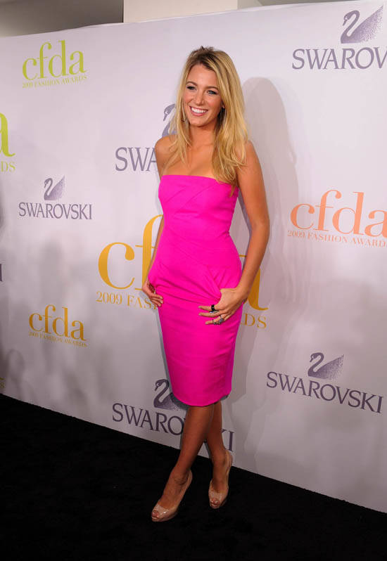 Blake Lively press room during the 2009 CFDA Awards sponsored by Swarovski, held at Alice Tully Hall, Lincoln Center in New York City, Monday, June 15, 2009. Credit: INFevents.com Ref: infusny-142