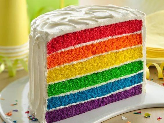 comida arcoíris tarta