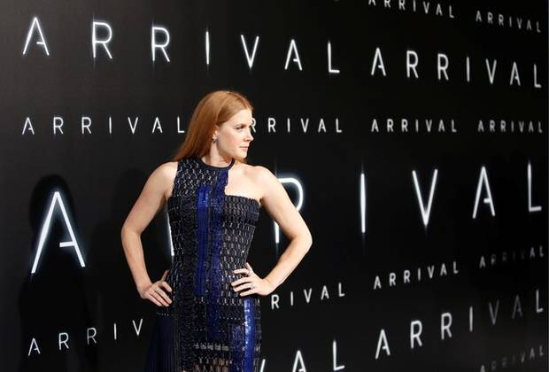 Actor Amy Adams poses at a premiere of the film
