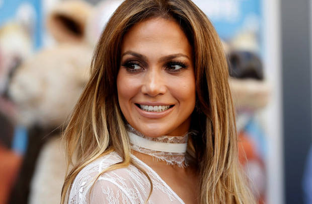 Cast member Jennifer Lopez poses at a screening of the movie