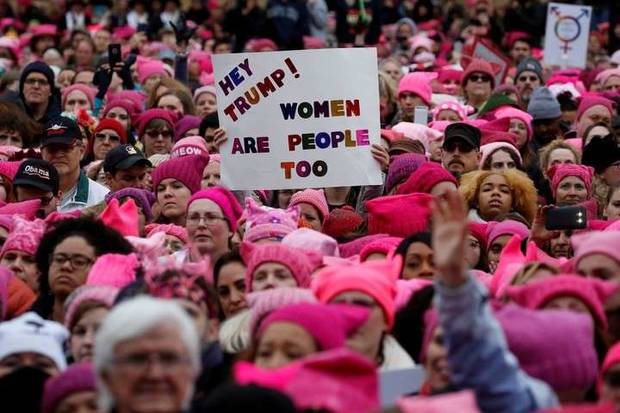 pussy hat manifestación contra trump