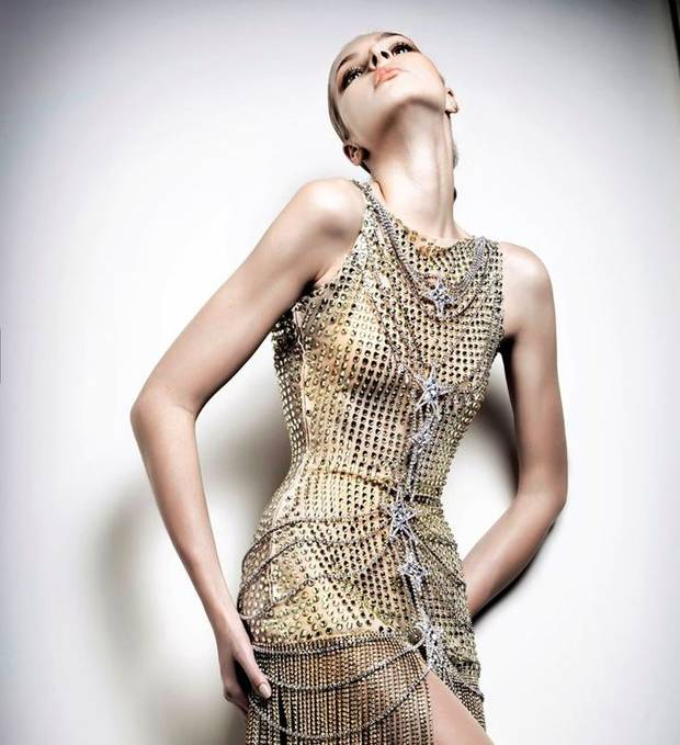chain mail dress