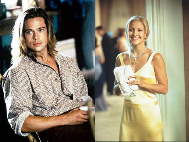 parejas de famosos Brad pitt y kate hudson