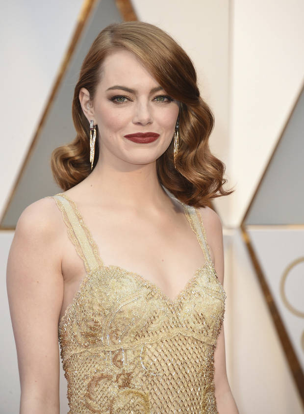 oscars beauty emma stone