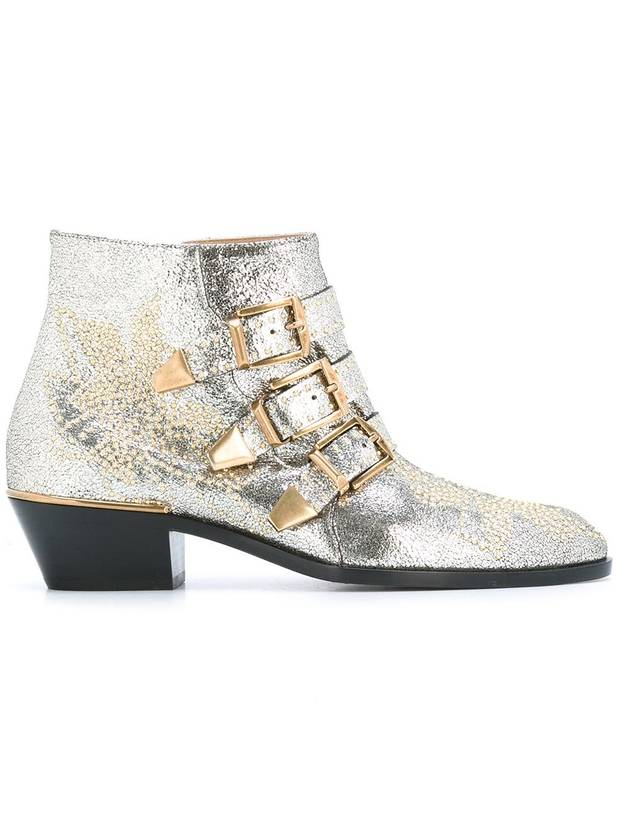 bota plateda y dorada