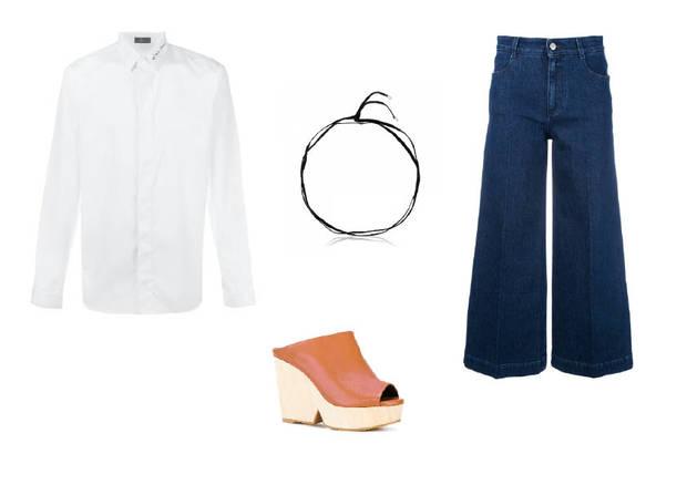 camisa hombre con jeans