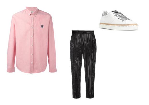 camisa masculina y pantalon pinzas