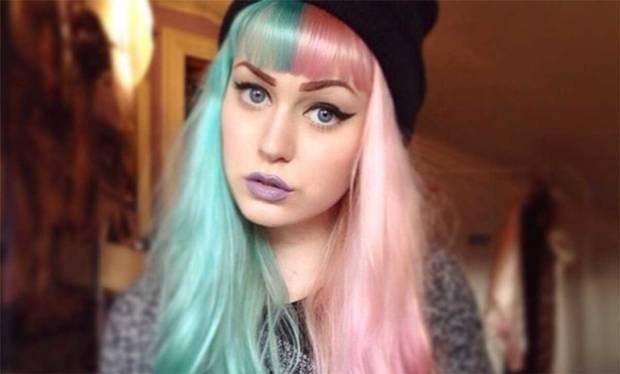 pelo color mitades