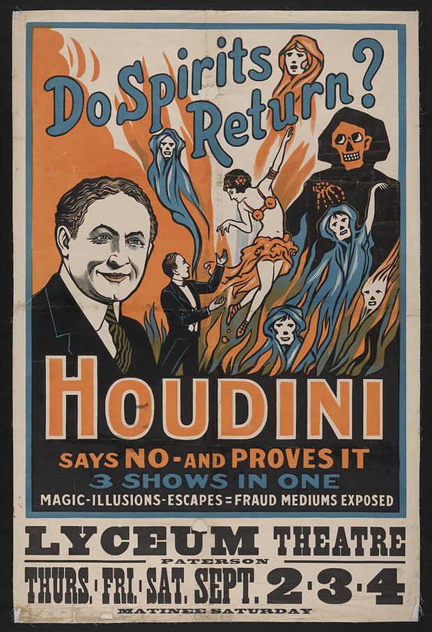 Houdini. Cartel del espectaculo