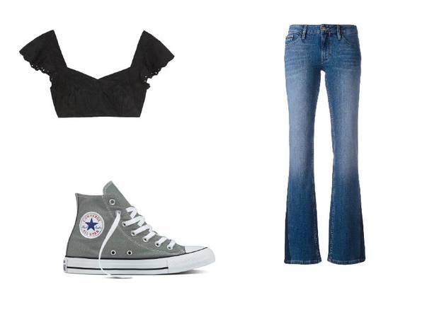 bralette con jeans