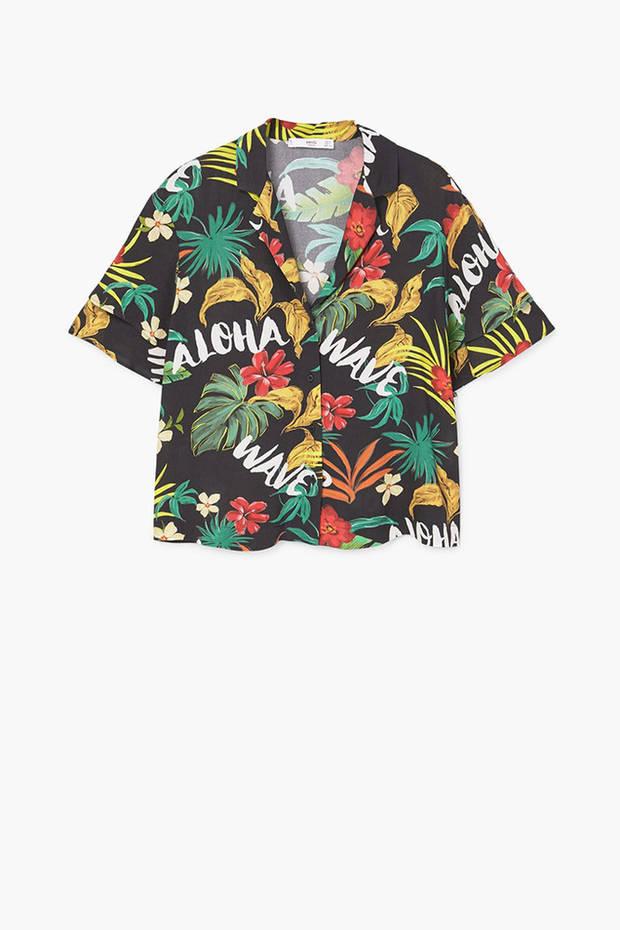 camisas hawaianas mango