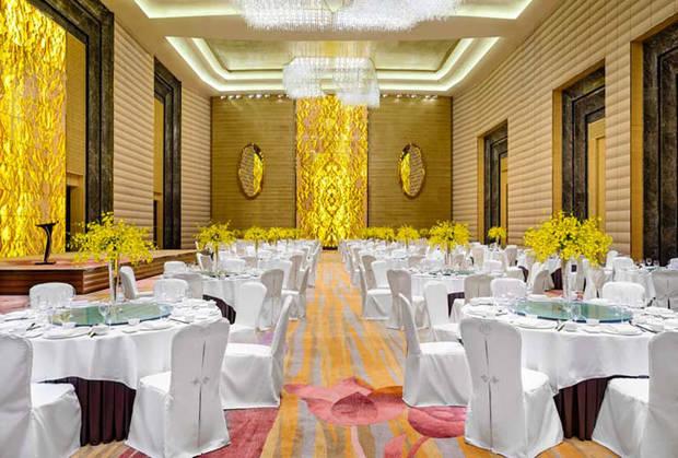 Boda banquete en hotel de lujo