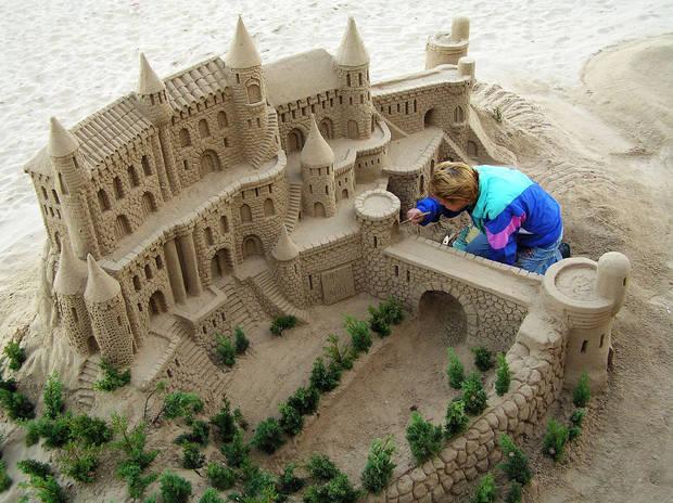 Playa Castillos de arena