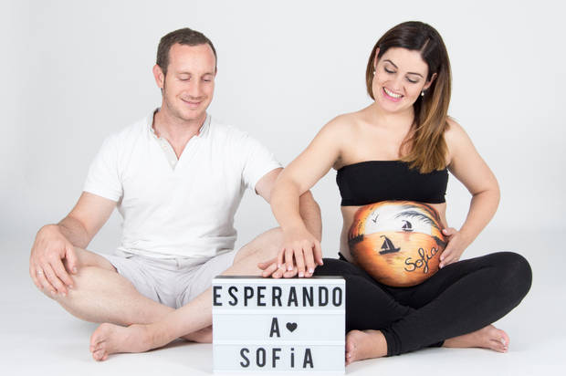 Belly painting sofia