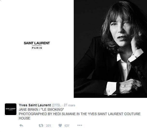 Modelo Jane Birkin Yves saint Laurent