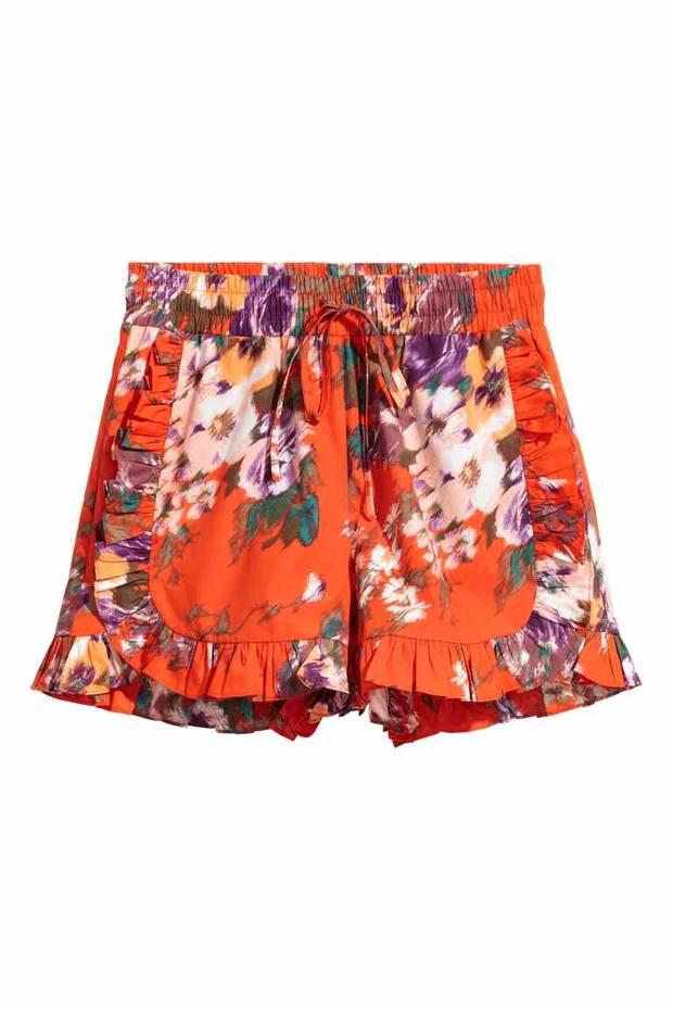 Shorts con volante H&M