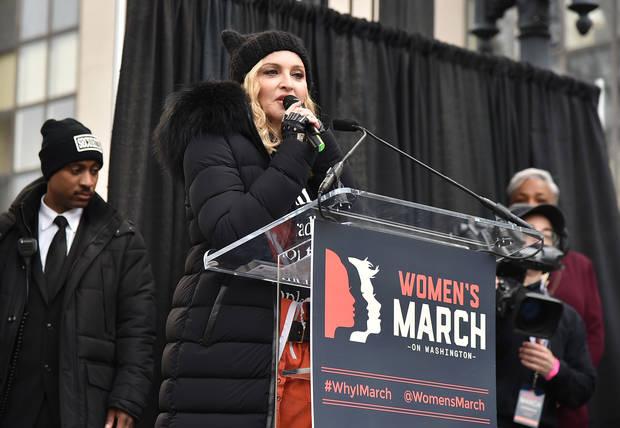 Madonna marcha de la mujer