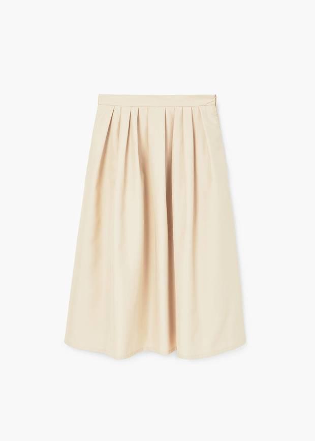 falda blanca midi Mango