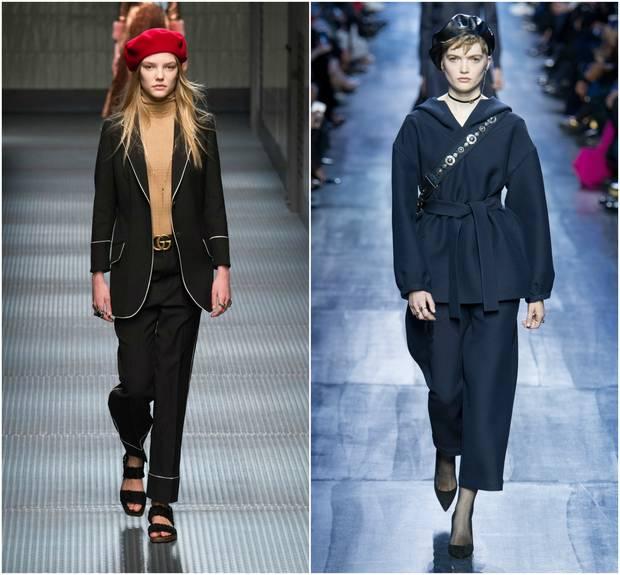 A la Izda., look de la colección otoño-invierno 2015/2016 de Gucci y a la Dcha., look de la colección otoño-invierno 2017 de Dior.