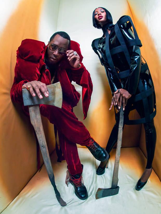 P. Diddy y Naomi Campbell