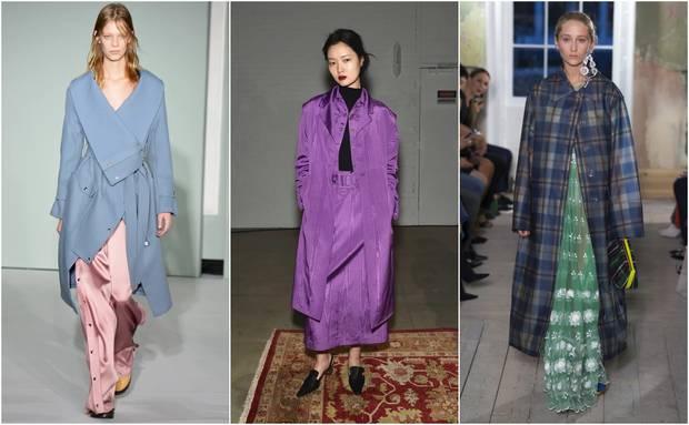 Looks pertenecientes a las colecciones otoño-invierno 2017 de Sies Marjan, Rosie Assoulin y Burberry.