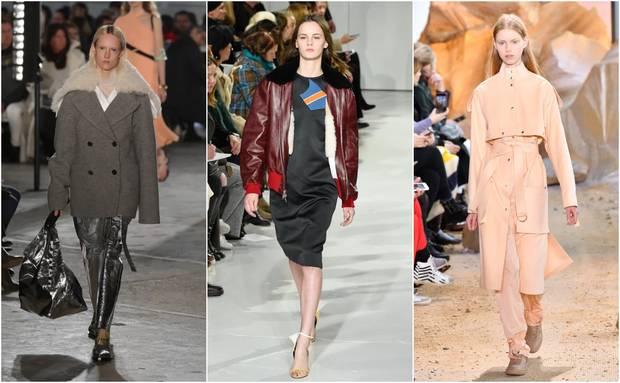 Looks pertenecientes a las colecciones otoño-invierno 2017 de Proenza Schouler, Calvin Klein y Lacoste.
