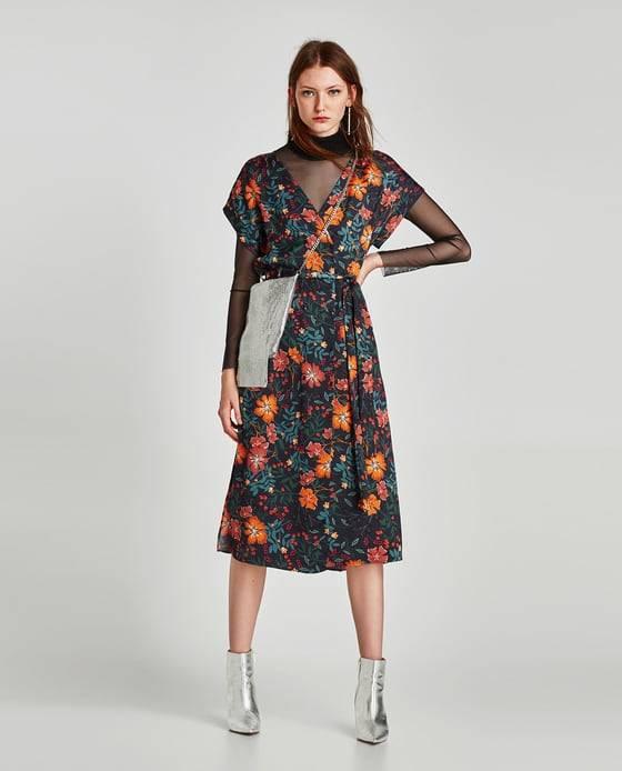 Vestido midi Zara rebajas (9.9)