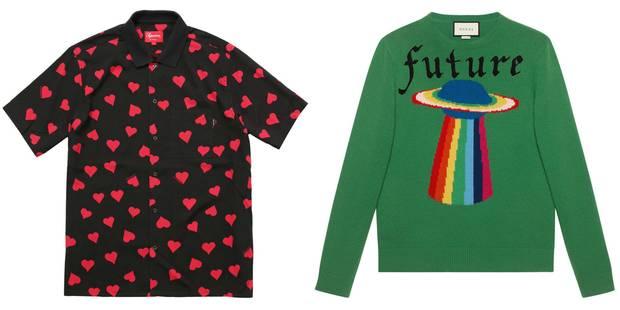 Camisa de Supreme y jersey de Gucci