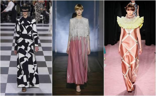 De Izda. a Dcha., diseños de Dior, Givenchy y Viktor & Rolf