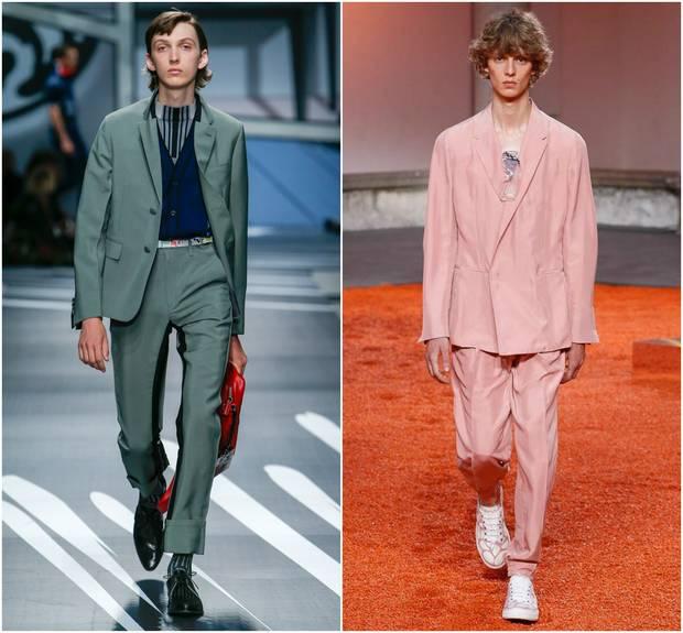 Looks de las colecciones para primavera-verano 2018 de Prada y Ermenegildo Zegna