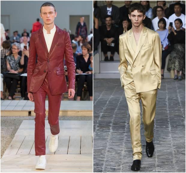 Looks de las colecciones para primavera-verano 2018 de Alexander McQueen y Berluti