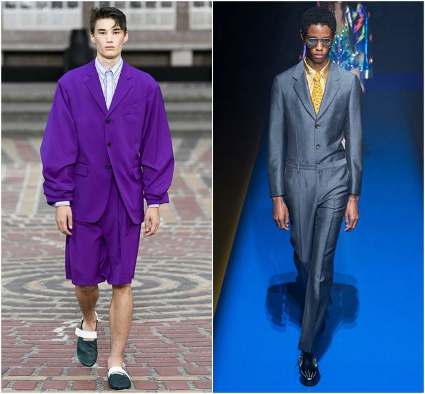 Looks de las colecciones para primavera-verano 2018 de Kenzo y Gucci