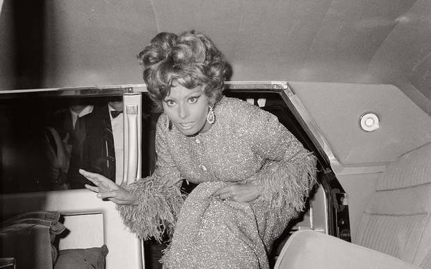 Sophia Loren en un estreno en 1967 en Nápoles
