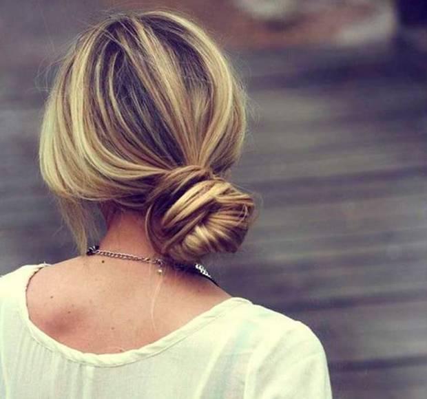 peinados moño bajo
