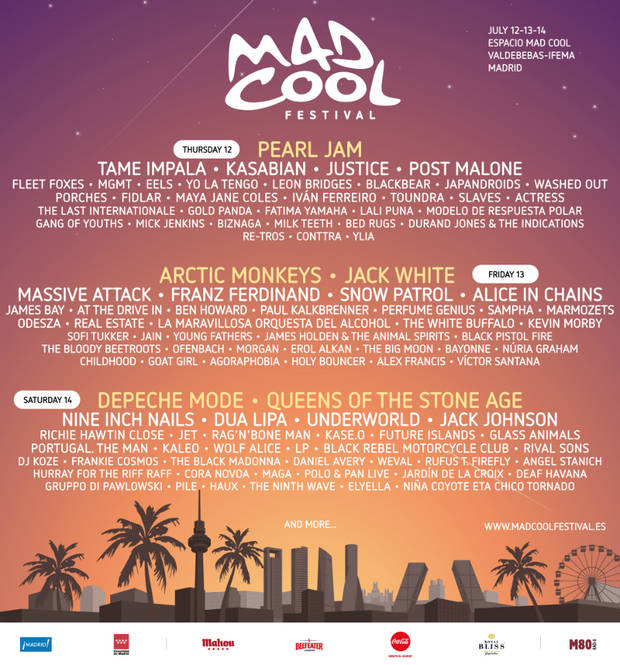 festivales mad cool 2018 MC18-LINEUP