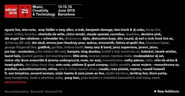 festivales sonar-2018-cartel