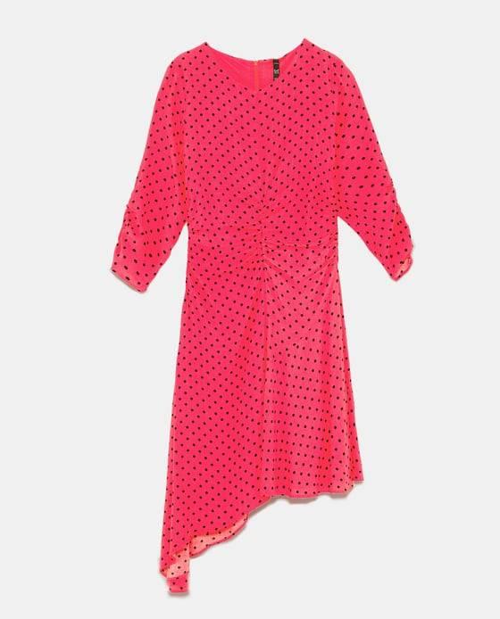 pink power Zara vestido