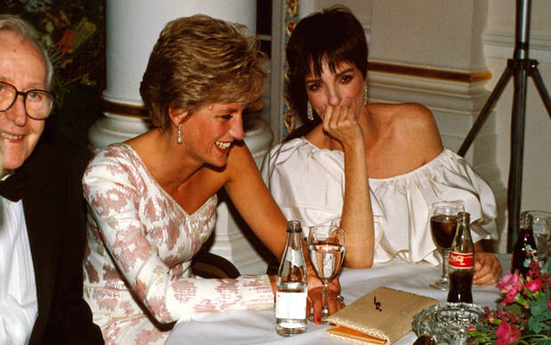 Princess Diana con Liza Minnelli, 1991