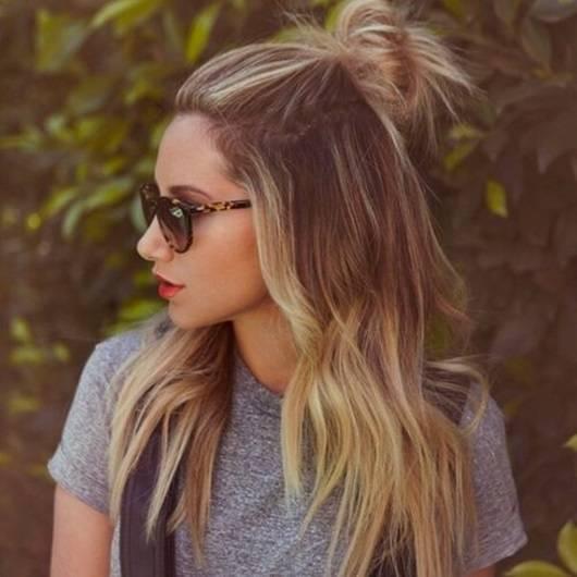 peinados Half-Up-Bun
