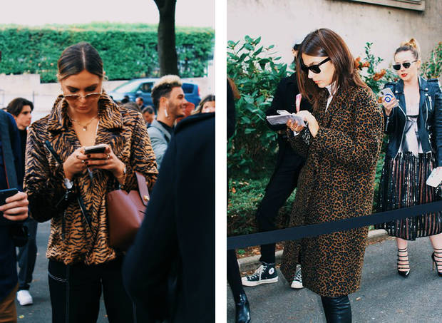 steet style paris 2018 animal print