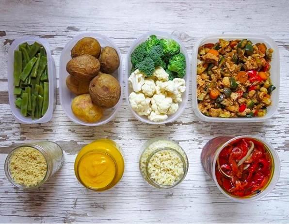Resultado de imagen de batch cooking vegano